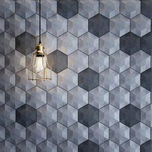 دیوار پوش بتنی سه بعدی بتن اکسپوز داخلی